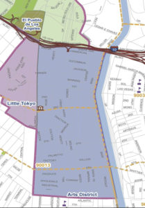 Arts District Boundary Map